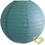 30 Inch Even Ribbing Water Blue Paper Lanterns