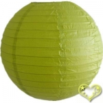 30 Inch Even Ribbing Chartreuse Paper Lanterns