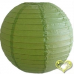 30 Inch Even Ribbing Light Lime Paper Lanterns
