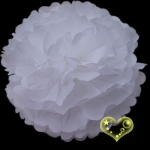 "12"" Tissue Paper Pom Poms Ball - White(4 pieces)"
