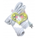 E26 White Double Socket Electrical Light Kit (UL Approval)