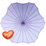 Six Scalloped Parasols-Lavender