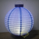 "10"" Bueberry 12 LED Round Paper Battery Lantern"