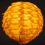 "10""Orange Pine Cone Paper Flower lanterns"