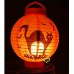 "8"" 3LED Black Cat Paper Battery Lantern"