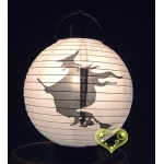 "8"" 3LED Witch Paper Battery Lantern"