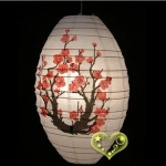 "12"" Kawaii Japanese Plum Tree Paper Lantern"