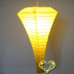 Yellow Conical Paper Lanterns