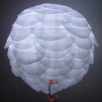 "10"" White Pine Cone Paper Flower lanterns"