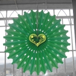 "19"" Lime Hanging Paper Sunburst"