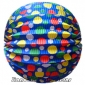 "12"" Color Dot With Blue Accordion Paper Lanterns(150 of case)"