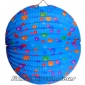 "12"" Colorful Dot With Blue Accordion Paper Lanterns(150 of case)"