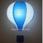 "14"" Dark Blue with white dot Air Balloon Paper Lanterns"
