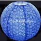 "16"" Eyelet Paper Lanterns-Dark Blue"