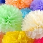 "16"" Samples for Tissue Paper Pom Poms Ball - mixed 28 colors"
