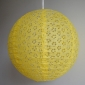 "8"" Eyelet Paper Lanterns-Yellow"