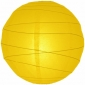 6 Inch Uneven Ribbing Yellow Paper Lanterns