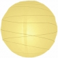 6 Inch Uneven Ribbing Light Yellow Paper Lanterns