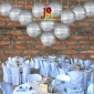 30 Inch Even ribbing Silver paper lanterns